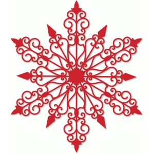 snowflake large overlay or doily
