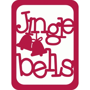 jingle bells journaling card