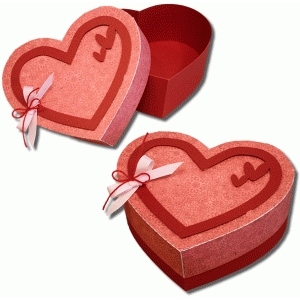 3d triple heart box