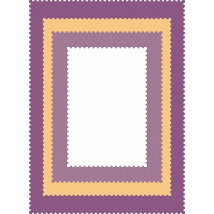 nested mats - postage stamp edge