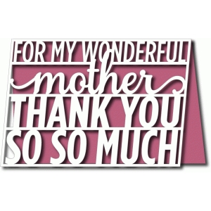 wonderful mother card 5x7