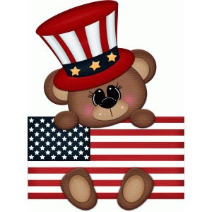 patriotic bear w flag pnc
