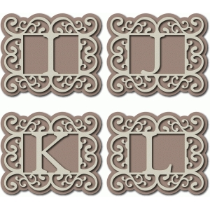 flourish monogram ijkl