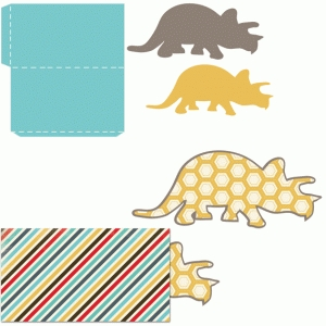 dinosaur tag with sleeve