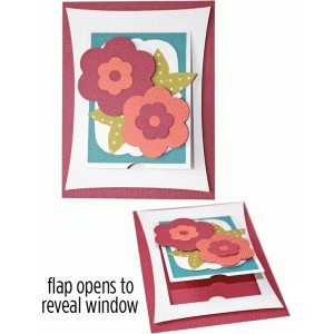 a2 flower flap card
