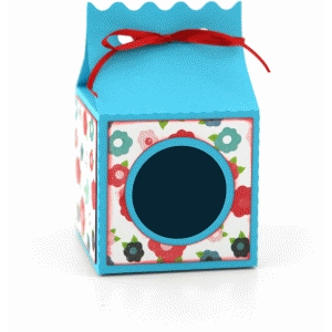ribbon tie favor box: wave