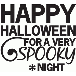 happy halloween spooky night phrase