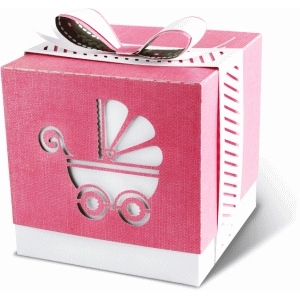 gift box with baby carriage