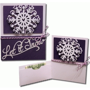 let it snow pocket flap card