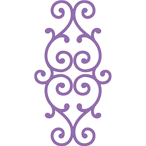 elegant scroll flourish