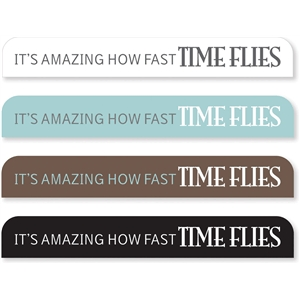 'time flies' sideline tabs