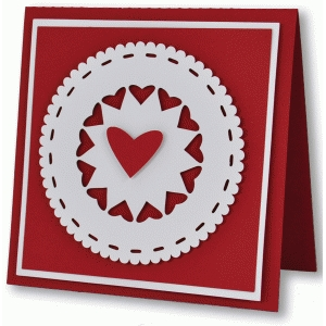 heart doily card