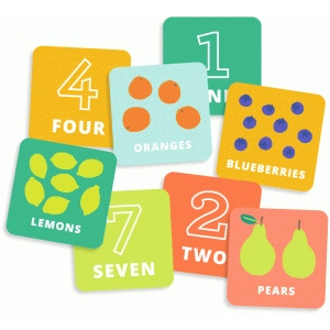printable number & fruit matching game