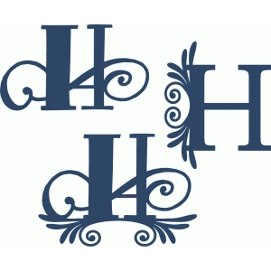flourish monogram set - h