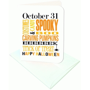 halloween sampler a2 card