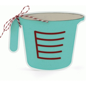 measuring cup shaped card
