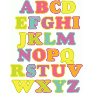 scalloped alphabet a-z