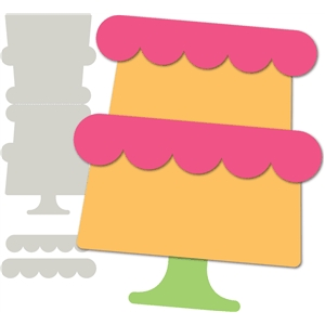 'birthday cake' card base