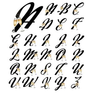 champagne monograms