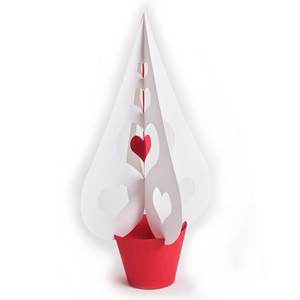 3d heart tree - large