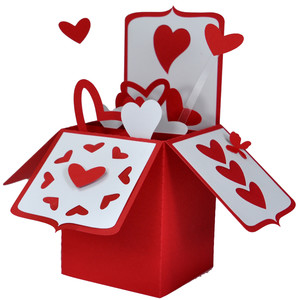 heart card in a box
