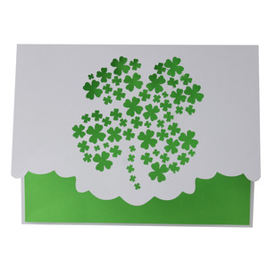 shamrock cluster fold over card