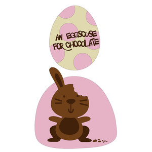 easter beasties - chocolate bunny and egg