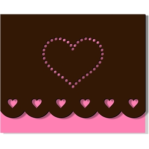 scalloped card - hearts