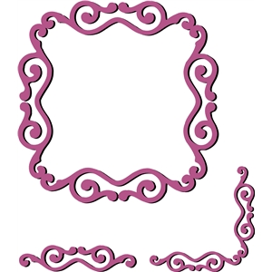 ornamental frame, border, corner set