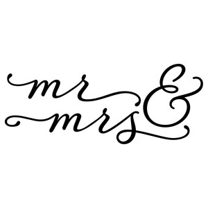 mr and mrs calligraphy