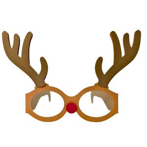 christmas deer glasses