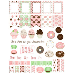 bake shop planner stickers