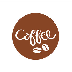 coffee circle label