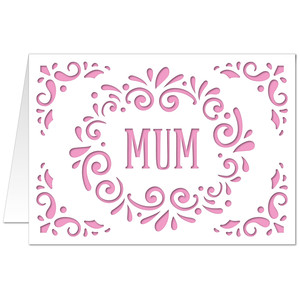5x7 flourish card mum