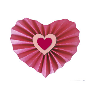 3d accordian pleated heart