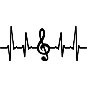 musical note heartbeat