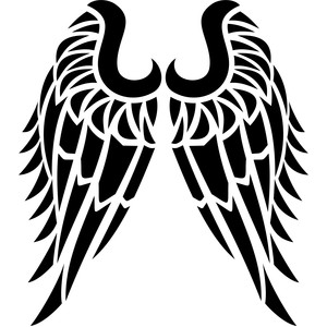 tribal angel wings