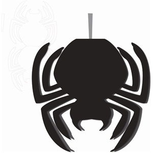 spider shaped card