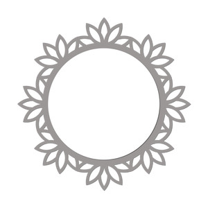 floral wreath frame