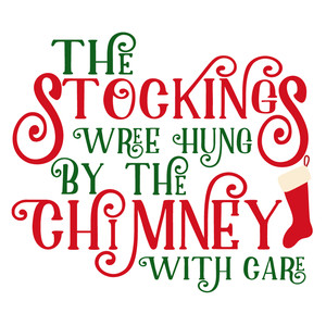 stocking hung by chimney