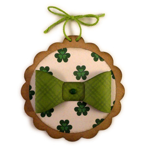 leprechaun bow tie ornament