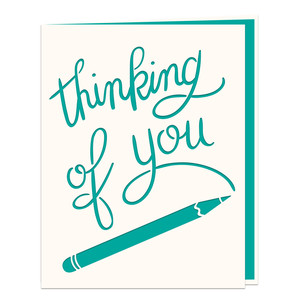 pencil card thinking of you