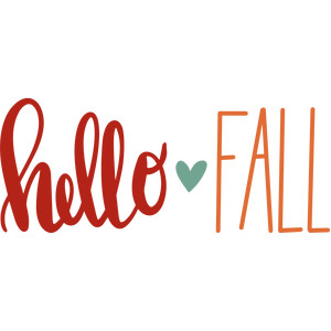 hello fall with heart