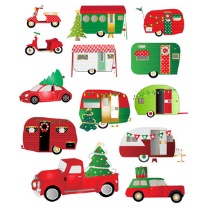 christmas on wheels planner stickers