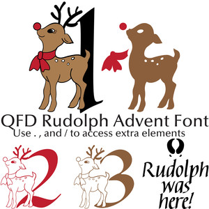 qfd rudolph advent font