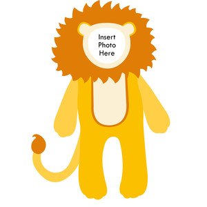 paper doll lion photo frame
