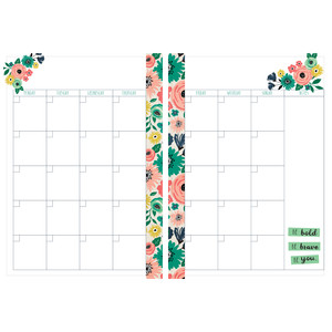 a5 and letter size blank floral monthly planner page