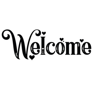 welcome decorative word