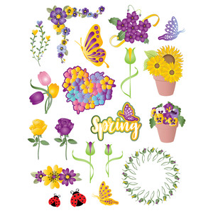 flower planner stickers