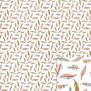 feathers background paper